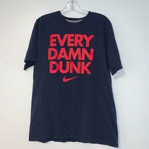 Nike Navy Blue T-Shirt EVERY DAMN DUNK!
